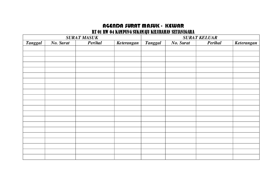 Contoh Format Buku Tamu Rt Sobat Guru Cute766