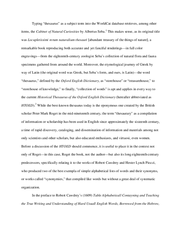 PDF Historical Thesaurus of the OED  Rebecca Shapiro