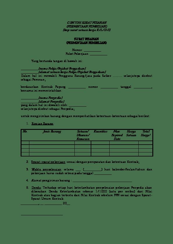 Contoh Surat Pesanan E-purchasing : contoh, surat, pesanan, e-purchasing, CONTOH, SURAT, PESANAN, (PERMINTAAN, PEMBELIAN, Zaenal, Abidin, Academia.edu