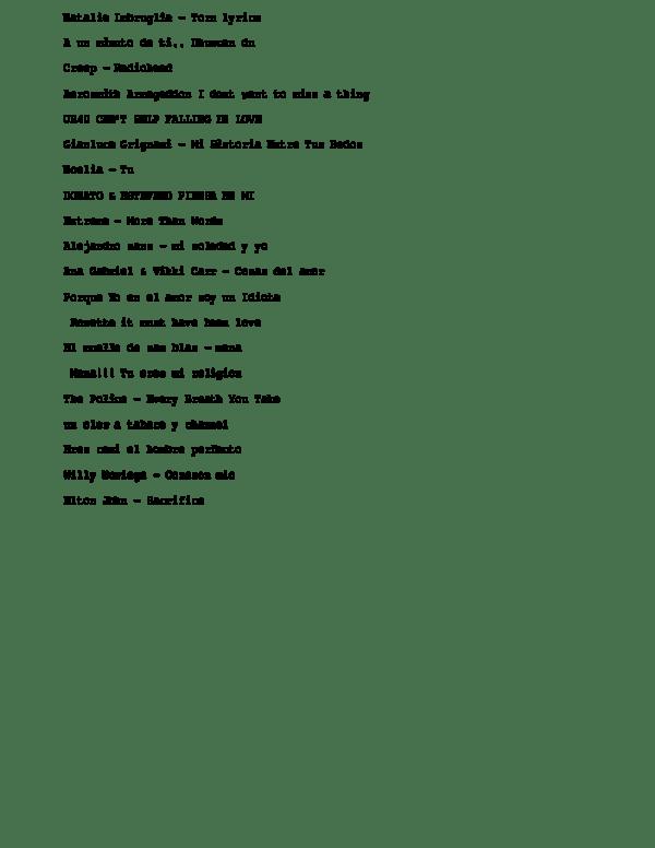 Historia Entre Tus Dedos Lyrics : historia, entre, dedos, lyrics, Natalie, Imbruglia, -Torn, Lyrics, Palomino, Llecllish, Academia.edu