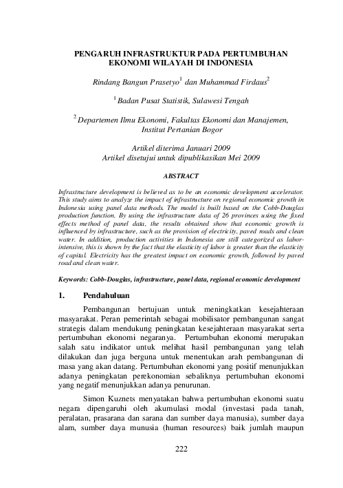 Fungsi Produksi Cobb Douglas Pdf : fungsi, produksi, douglas, Douglas, Rizkiawan, Rizki, Academia.edu