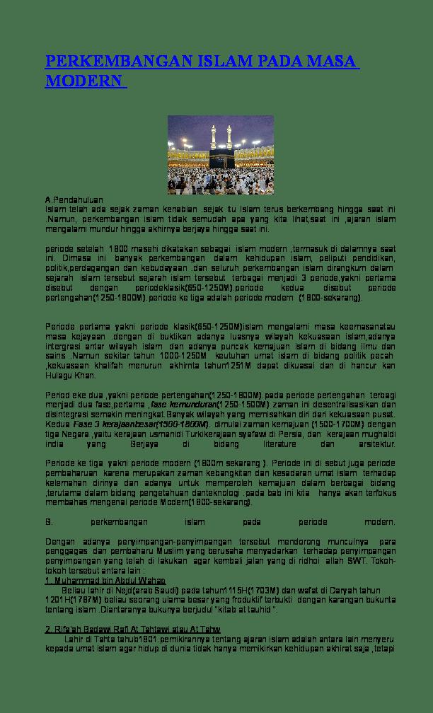 Modernisasi Pendidikan Islam Dan Pemikiran Keislaman Di