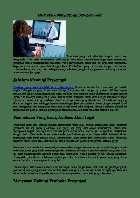 Kalimat Pembuka Presentasi Singkat : kalimat, pembuka, presentasi, singkat, MEMBUKA, PRESENTASI, DENGAN, Elvina, Academia.edu