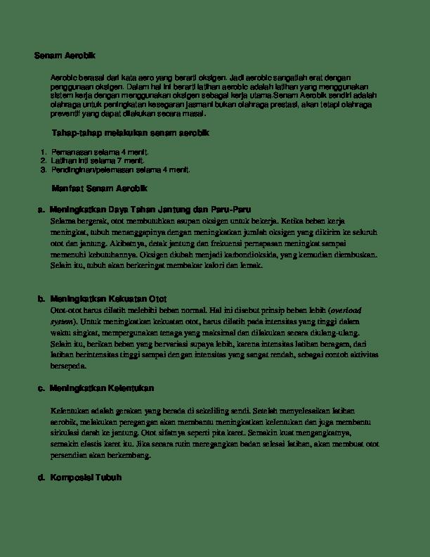 Pengertian Pendinginan Dalam Olahraga : pengertian, pendinginan, dalam, olahraga, Senam, Aerobik, Taufik, Riyadi, Academia.edu