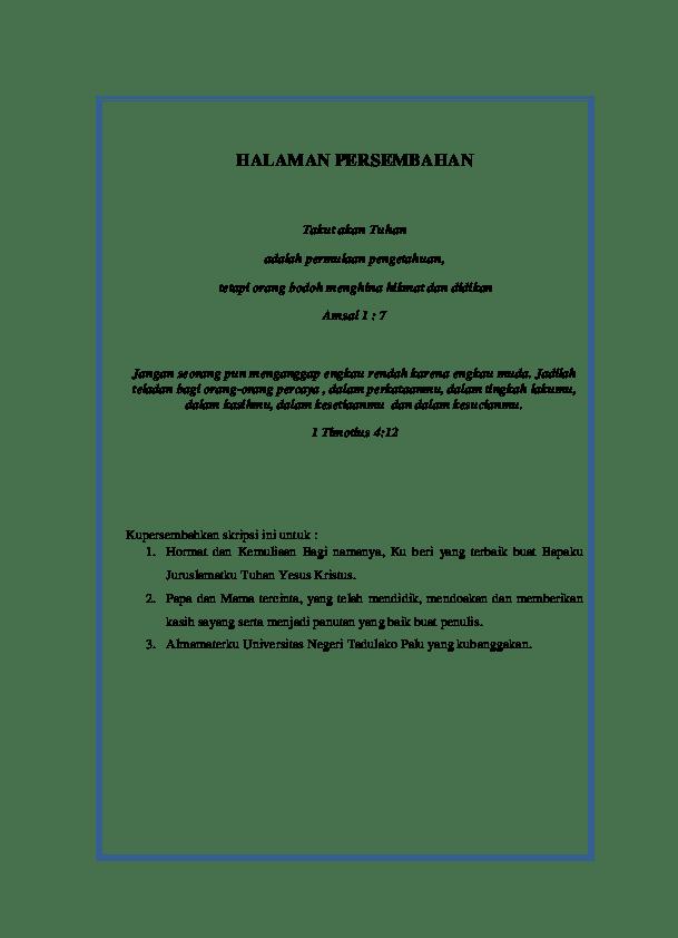 Halaman Persembahan Skripsi Pdf : halaman, persembahan, skripsi, Halaman, Persembahan, Skripsi, Menyentuh, Bijak, Kreatif