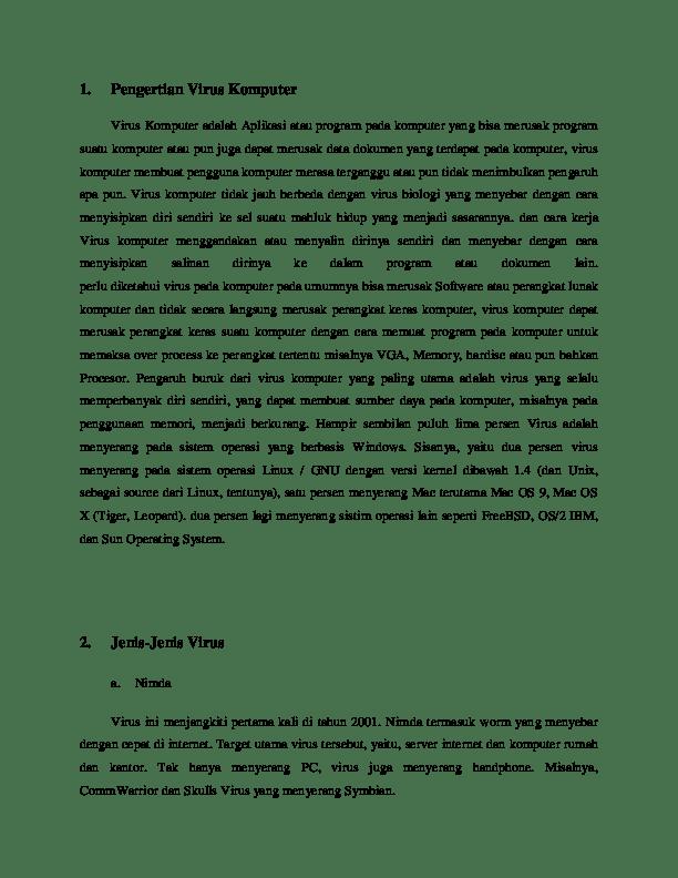 PDF) Pengertian Virus Komputer   marjum badarudin - Academia.edu