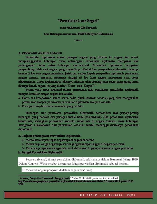 Sebutkan Fungsi Perwakilan Diplomatik : sebutkan, fungsi, perwakilan, diplomatik, 4012), Perwakilan, Negeri, Diplomatik, Konsuler, Madinna, Nurjanah, Academia.edu