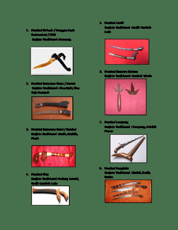 Doc Senjata Tradisional Novi Indah Academia Edu