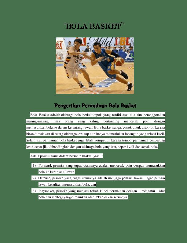 Tugas Playmaker Dalam Bola Basket : tugas, playmaker, dalam, basket, BASKET, Hafizh, Azhari, Academia.edu