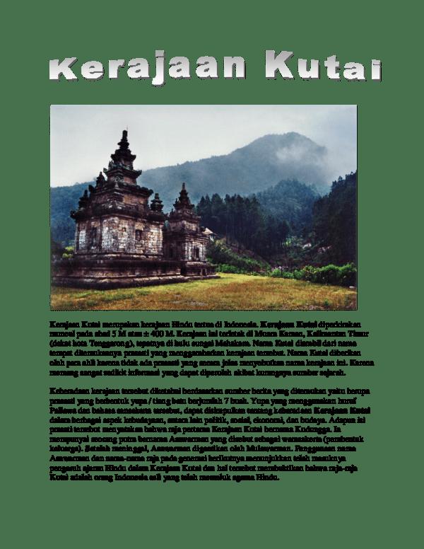 Keruntuhan Kerajaan Kutai : keruntuhan, kerajaan, kutai, Kerajaan, Kutai, Thenia, Kristanti, Academia.edu