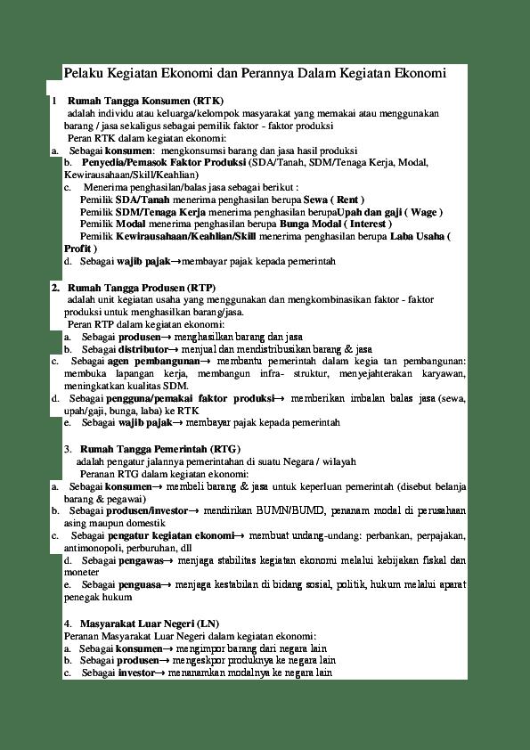 Peran Rumah Tangga Dalam Kegiatan Ekonomi : peran, rumah, tangga, dalam, kegiatan, ekonomi, Gambar, Kegiatan, Ekonomi, Rumah, Tangga, Keluarga, Terlengkap, Koleksi