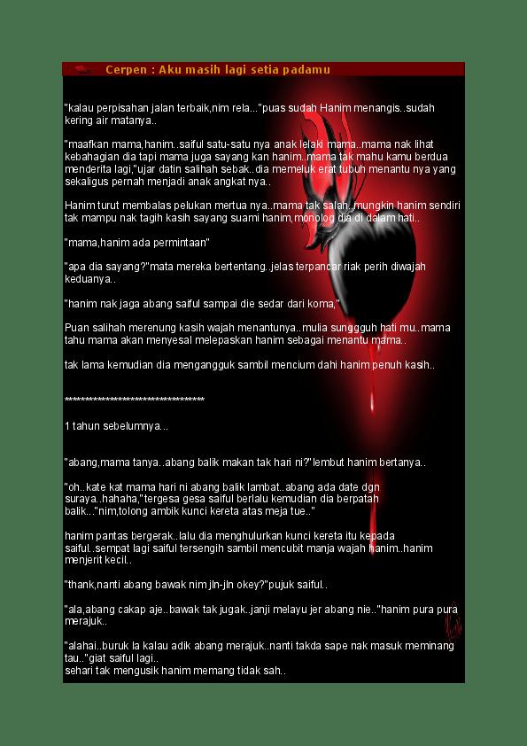 Cerpen Aku Nak Tubuh Kau : cerpen, tubuh, Cerpen, Masih, Setia, Padamu, Afifa, Fadzil, Academia.edu