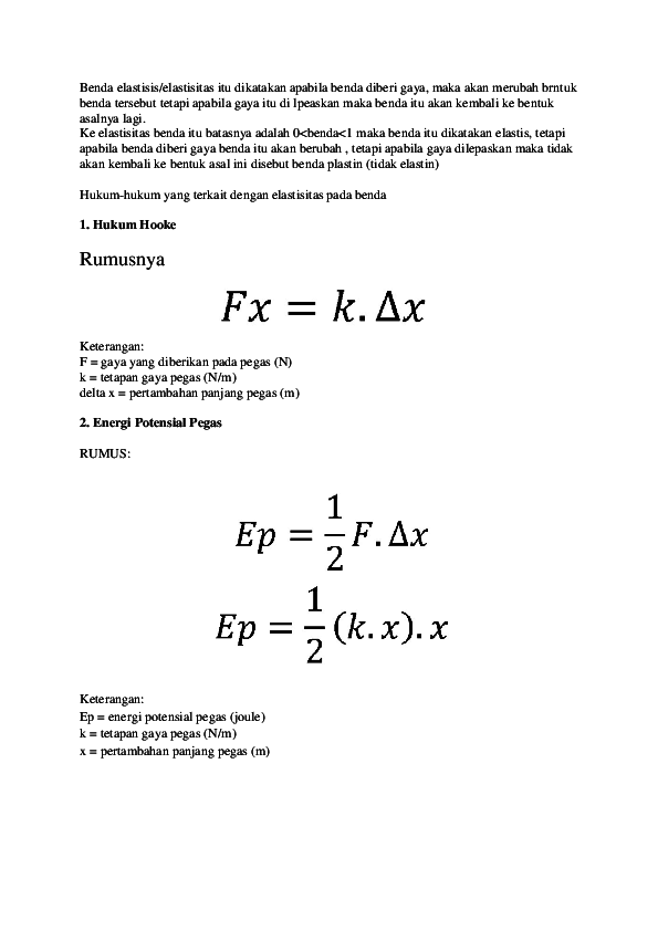 Rumus Energi Potensial Pegas : rumus, energi, potensial, pegas, Rumus, Energi, Potensial, Pegas, Keterangannya, Edukasi.Lif.co.id