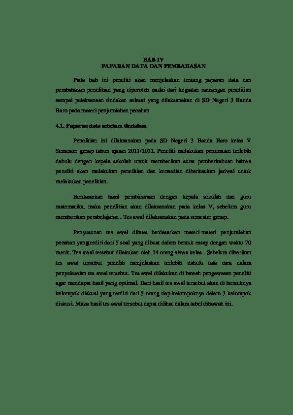 Contoh Bab 4 Dan 5 Skripsi Kualitatif Kumpulan Berbagai Cute766