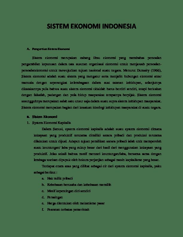 Jelaskan Perbedaan Sistem Ekonomi Komando Dengan Sistem Ekonomi Pasar : jelaskan, perbedaan, sistem, ekonomi, komando, dengan, pasar, SISTEM, EKONOMI, INDONESIA, Arfino, Academia.edu