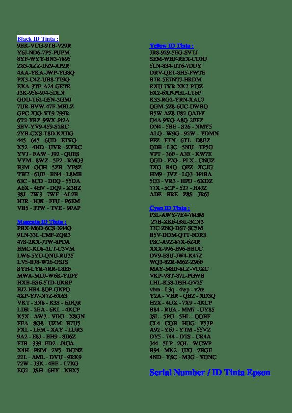 Serial Tinta Epson L800 : serial, tinta, epson, Black, Tinta, Halim, Perdana, Academia.edu