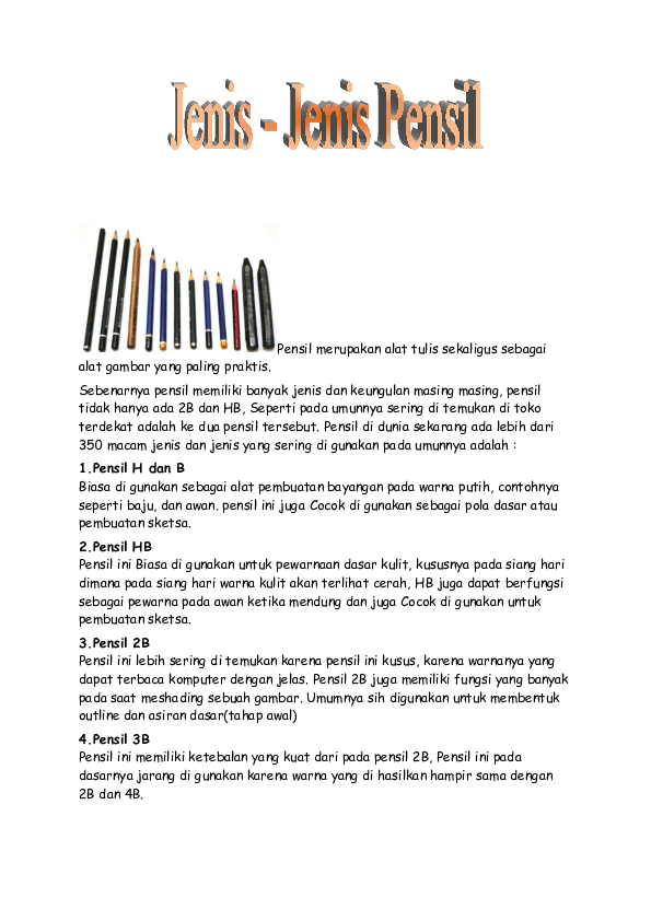 Jenis Jenis Pensil : jenis, pensil, Jenis, Pensil, Akmal, Yustisio, Academia.edu