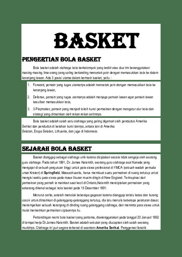 Tugas Playmaker Dalam Bola Basket : tugas, playmaker, dalam, basket, Materi, Basket, Miftahul, Mustaha, Academia.edu