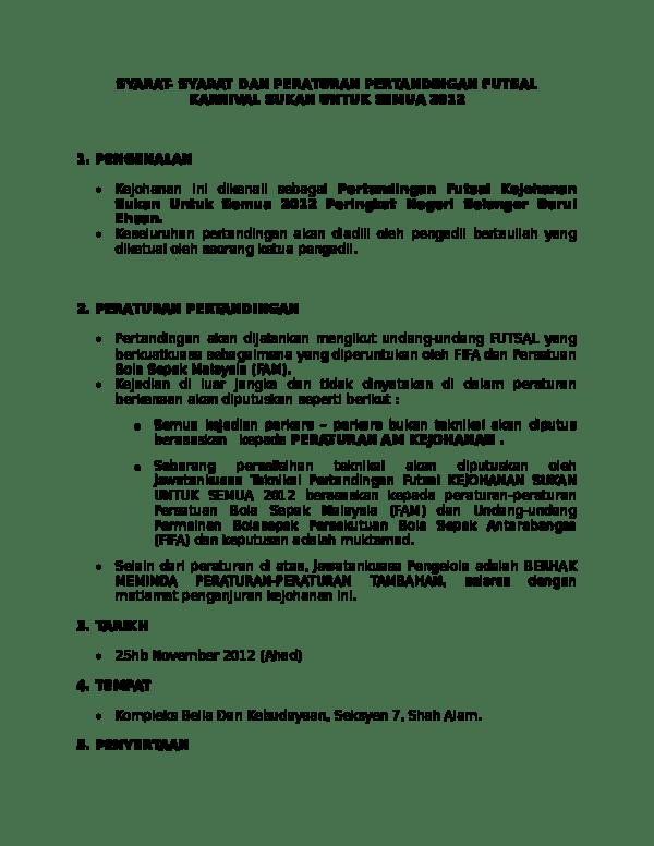 Peraturan Bola Futsal : peraturan, futsal, Peratuaran, Permainan, Futsal, Sekolah, Elyas, Bakri, Academia.edu