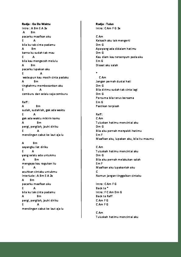 Kunci Gitar Disaat Aku Pergi : kunci, gitar, disaat, pergi, Pernah, Sakit, Chordtela