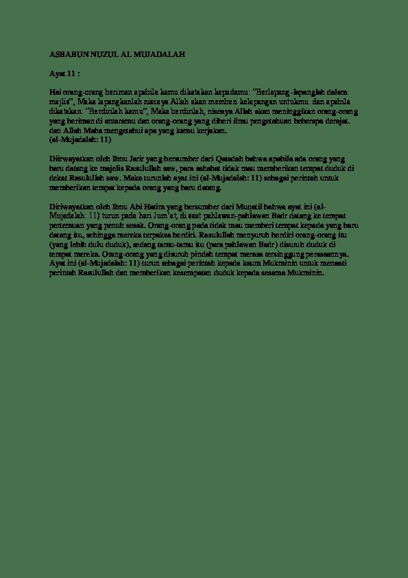 Makalah asbabun nuzul al-qur'an