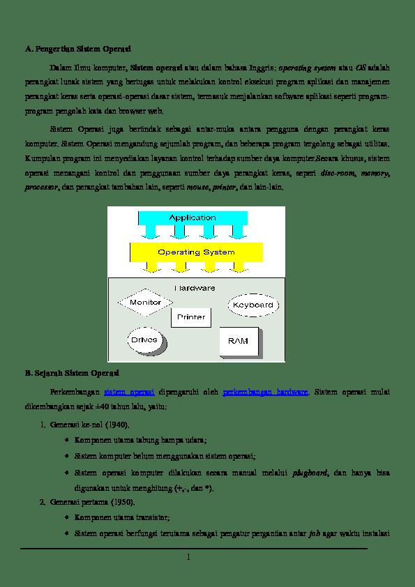Komponen Utama Sistem Operasi : komponen, utama, sistem, operasi, Sisitem, Operasi, Tugas, Kamisah, Septianti, Academia.edu