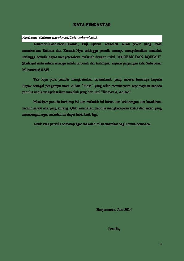 Makalah Tentang Qurban : makalah, tentang, qurban, Fiqih, Kurban, Akikah, Haidir, Rahim, Academia.edu
