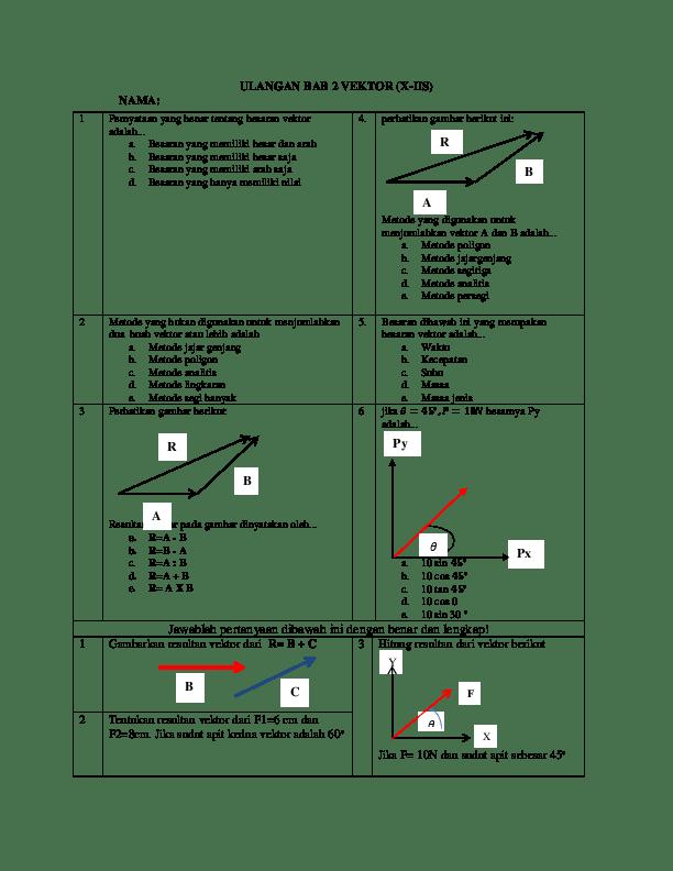 6 Contoh Soal Penjumlahan Vektor Metode Jajar Genjang Cute766