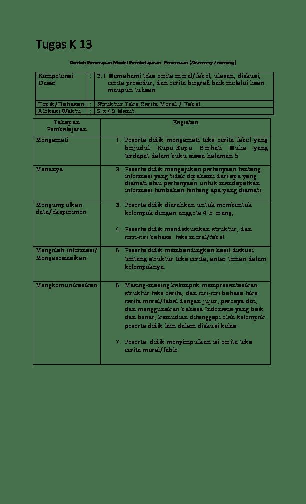Struktur Cerita Fabel : struktur, cerita, fabel, Tugas, Academia.edu