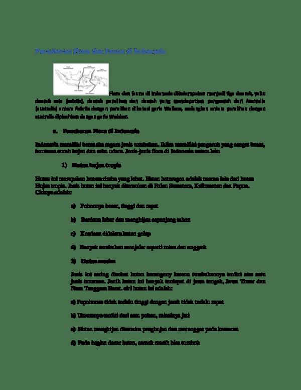 Persebaran Hutan Musim Di Indonesia : persebaran, hutan, musim, indonesia, Persebaran, Flora, Fauna, Indonesia, Capten, Academia.edu