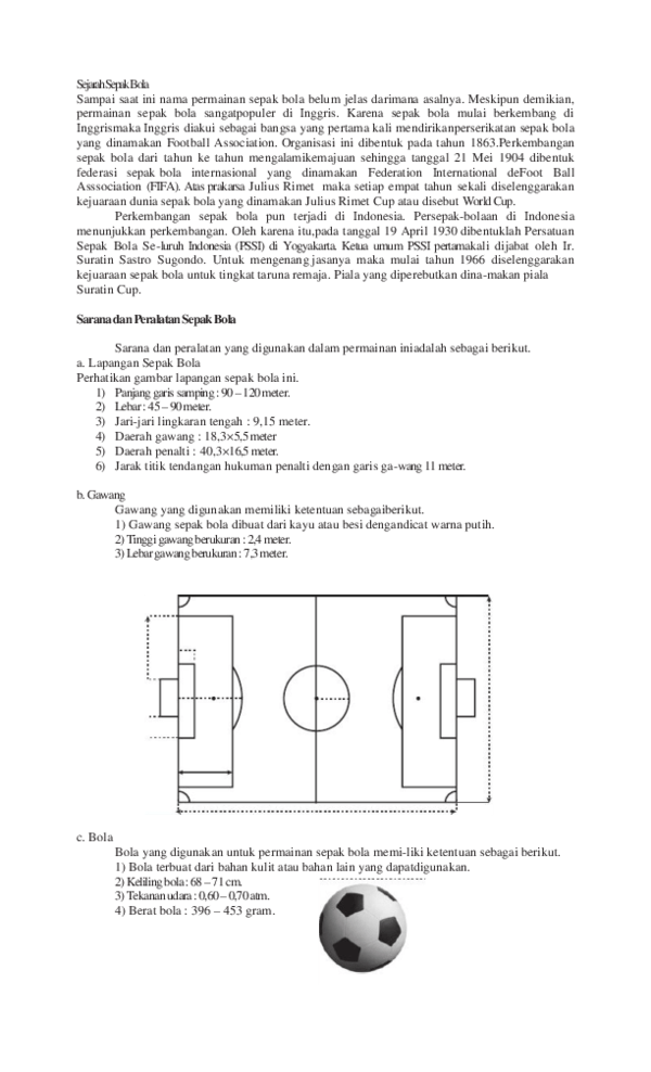 Ini Dia Peraturan Sepak Bola dari FIFA Yang Harus Anda Tahu
