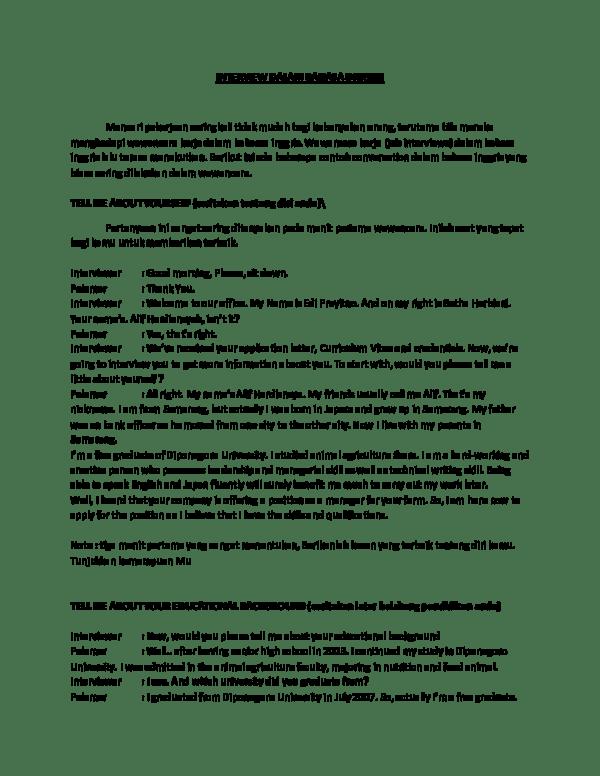 Contoh Teks Interview : contoh, interview, Contoh, Wawancara, Dalam, Bahasa, Inggris, Berbagai, Penting
