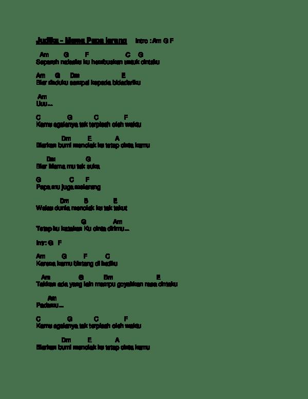 Lirik Lagu MAMA PAPA LARANG - Judika