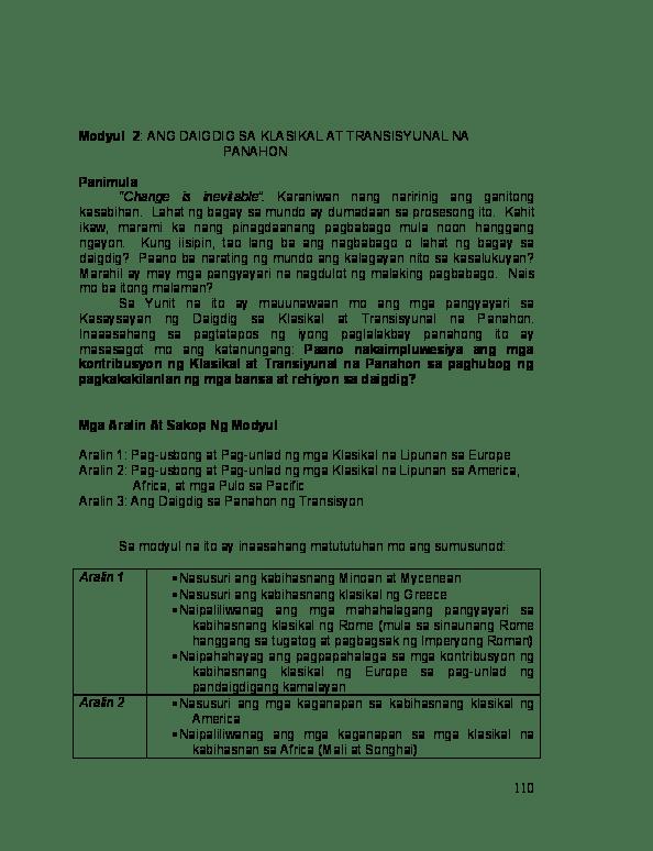 ano ang venn diagram tagalog home stereo equalizer wiring modyul 2 daigdig sa klasikal at transisyunal na panahon pdf