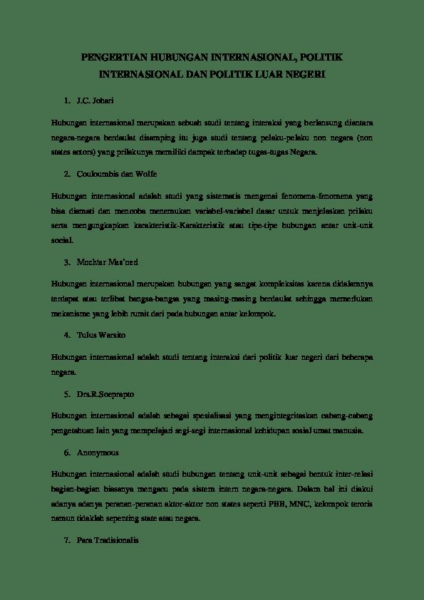 Definisi Hubungan Internasional Menurut Para Ahli : definisi, hubungan, internasional, menurut, PENGERTIAN, HUBUNGAN, INTERNASIONAL,, POLITIK, INTERNASIONAL, NEGERI, Academia.edu