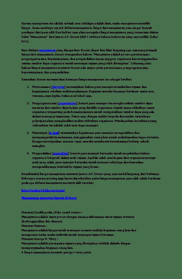 Fungsi Manajemen Menurut George R Terry : fungsi, manajemen, menurut, george, terry, Fungsi, Manajemen, Indah, Purnawati, Academia.edu