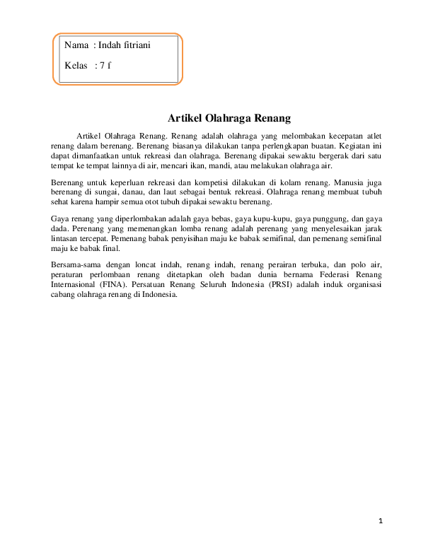 Penjelasan Tentang Olahraga Renang : penjelasan, tentang, olahraga, renang, Artikel, Olahraga, Renang, Setya, Academia.edu