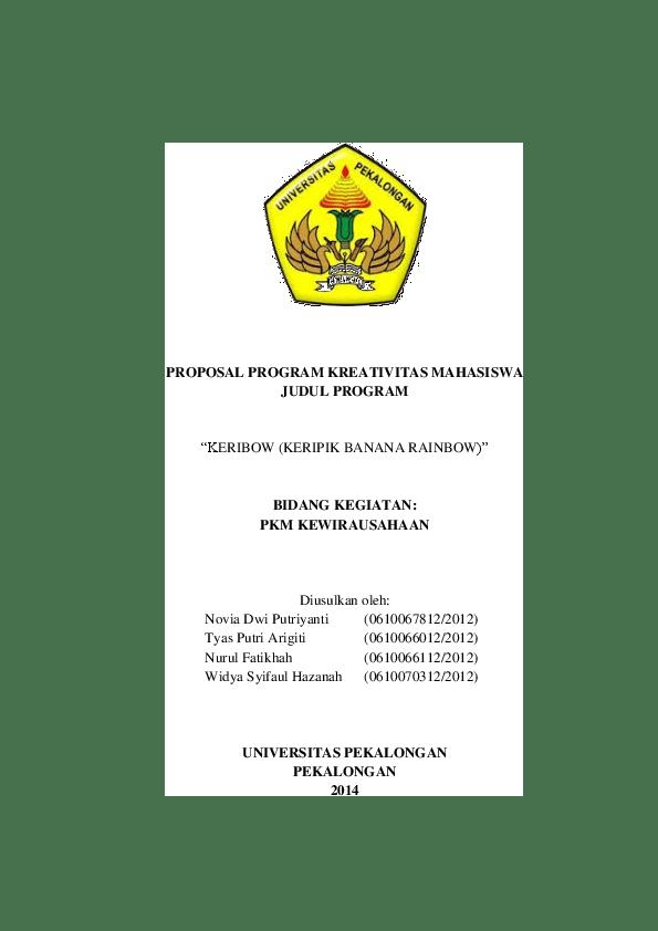 Pkm Kewirausahaan Makanan : kewirausahaan, makanan, PROPOSAL, PROGRAM, KREATIVITAS, MAHASISWA, JUDUL,