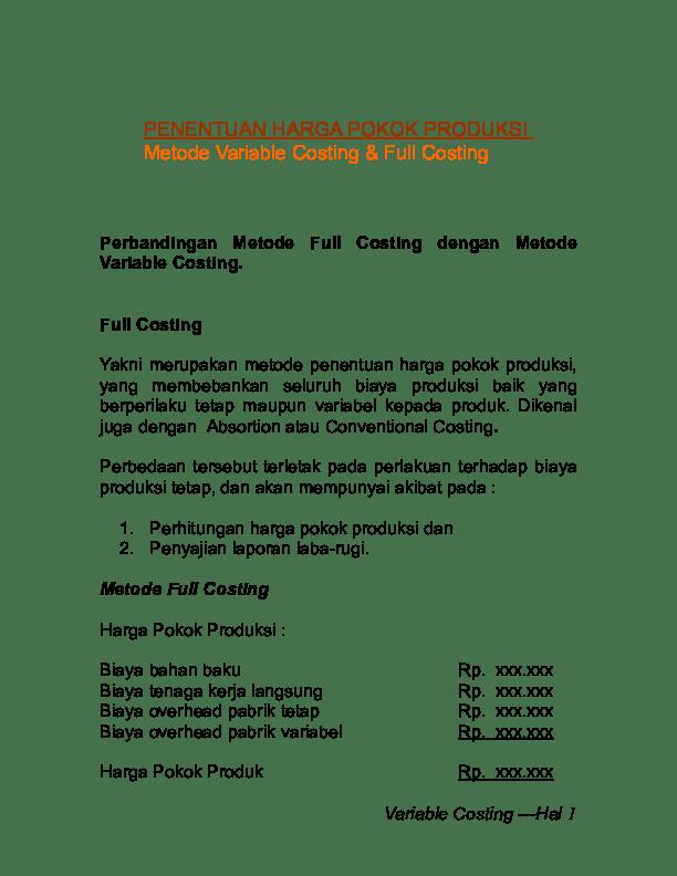 Contoh Laporan Biaya Produksi Guru Paud