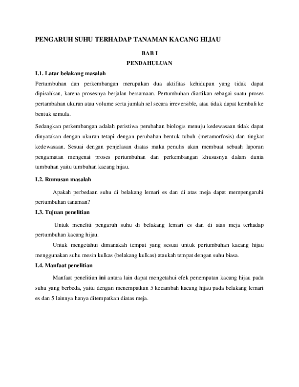 Laporan Kacang Hijau : laporan, kacang, hijau, PENGARUH, TERHADAP, TANAMAN, KACANG, HIJAU, PENDAHULUAN, Dessy, Anjasari, Academia.edu