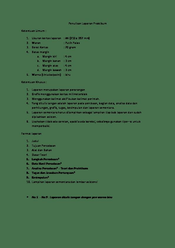 Tips Membuat Laporan Praktikum Cute766