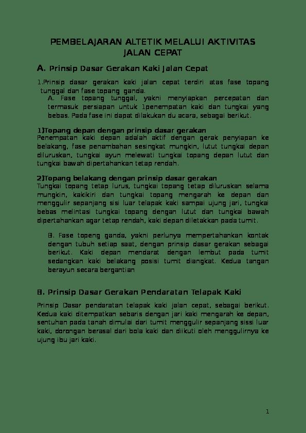 Sebutkan Empat Prinsip Dasar Gerakan Kaki Lari Jarak Pendek : sebutkan, empat, prinsip, dasar, gerakan, jarak, pendek, PENJASORKES, Atletik, Bagus, Pamungkas, Academia.edu