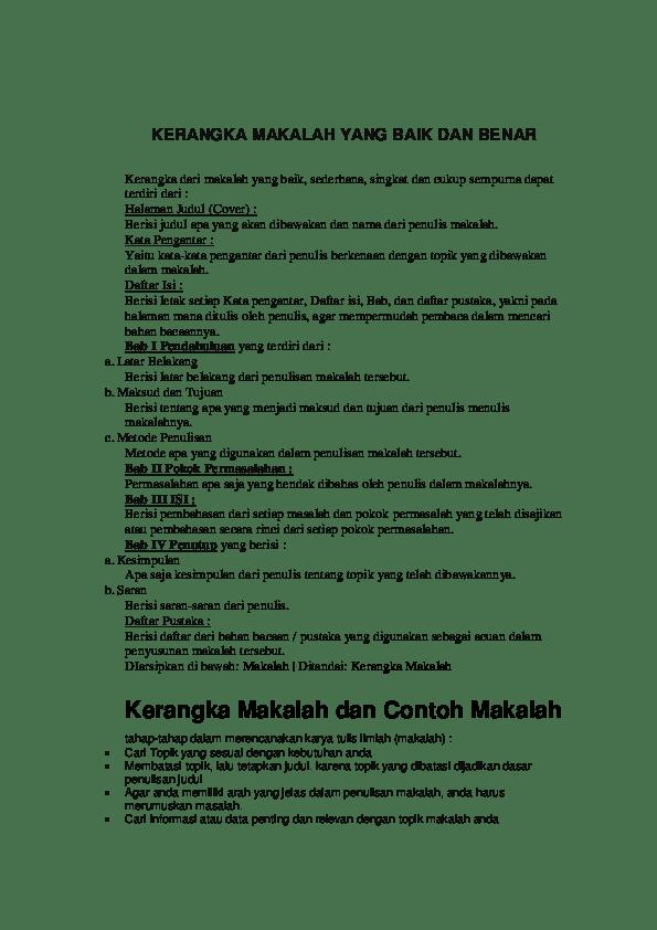 Download Contoh Makalah Yang Baik Dan Benar Pdf : download, contoh, makalah, benar, KERANGKA, MAKALAH, BENAR, Pramana, Academia.edu