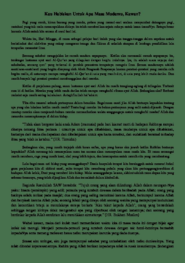 Pertanyaan Sulit Tentang Hari Kiamat : pertanyaan, sulit, tentang, kiamat, Habiskan, Untuk, Mudamu,, Kawan?, Annasari, Nurlely, Academia.edu