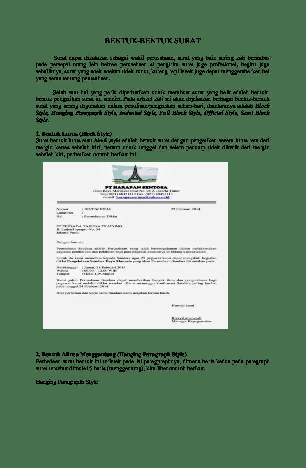 Contoh Surat Semi Block Style Versi Internasional Surat P Cute766