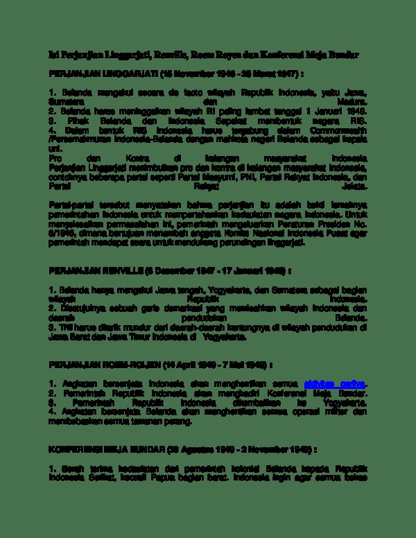 Isi Perjanjian Linggarjati : perjanjian, linggarjati, Perjanjian, Linggarjati, Fitri, Sanuddin, Academia.edu