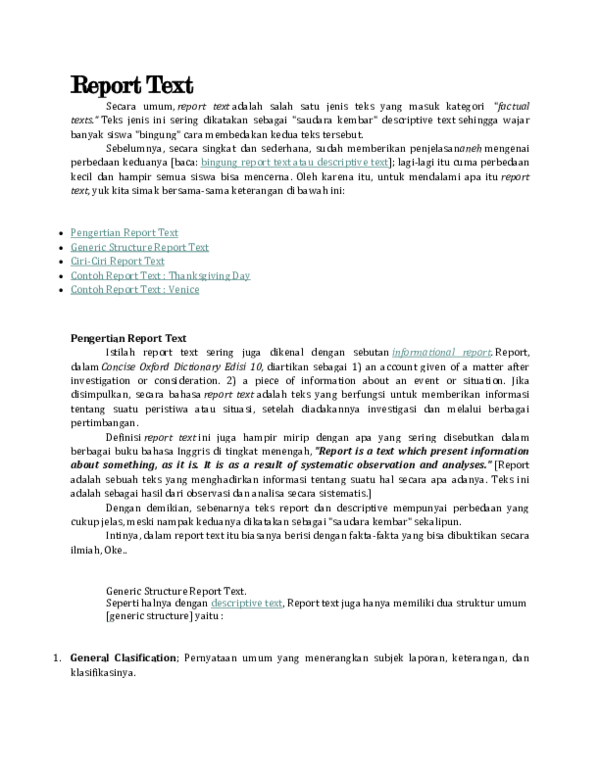 Contoh Report Text Singkat : contoh, report, singkat, Report, Gifta, Nasweety, Academia.edu