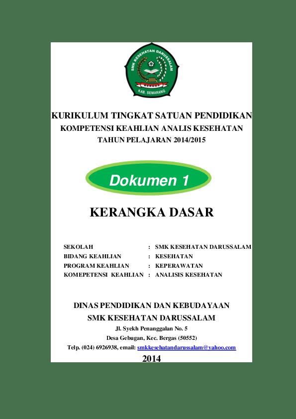 Dokumen 1 Kurikulum 2013 Sd : dokumen, kurikulum, Contoh, Dokumen, Kurikulum, Mamiyk, Zuliana, Academia.edu