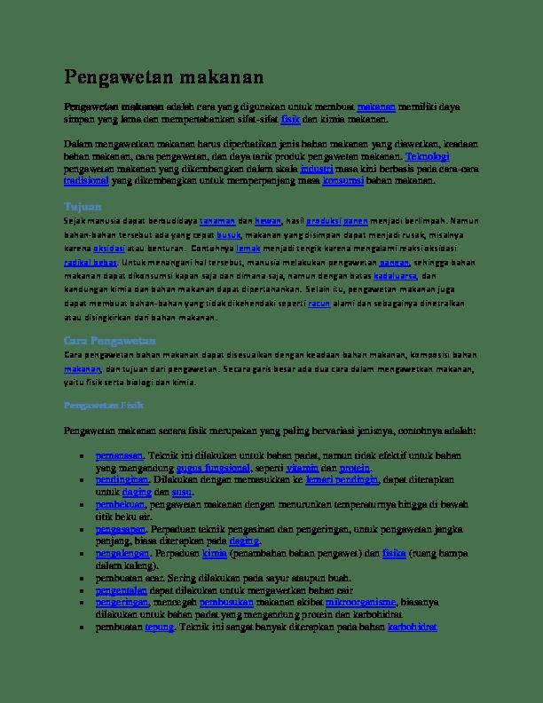 Contoh Pengawetan Makanan Dengan Cara Pemanasan : contoh, pengawetan, makanan, dengan, pemanasan, Aisha, Tugas, Pengawetan, Makanan, Negoro, Academia.edu