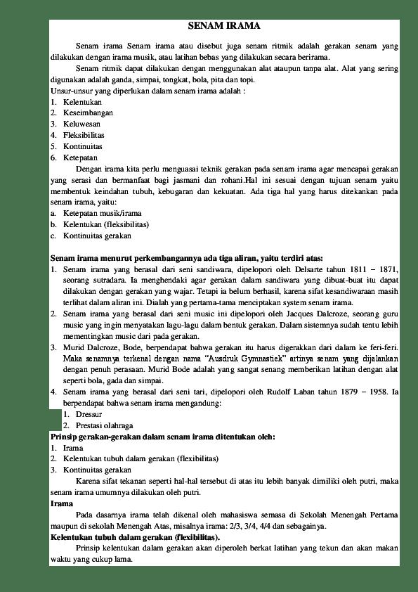 Pengertian Senam Irama : pengertian, senam, irama, SENAM, IRAMA, Fatimatuz, Zahrah, Academia.edu